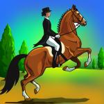 course de cheval agilité: l'obstacle concours de dressage de saut - édition gratuite