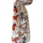 Foulard chevaux Derby de Kentucky New Company - blanc - taille unique