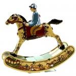 Jouet mecanique cheval à bascule jouet en metal à remonter