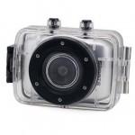 Lychee Etanche Full HD 720p 2,0 pouces TFT LCD Ecran Tactile Sports de plein air DV Action Caméra Vidéo Photo Casque Camcorder (Argent)